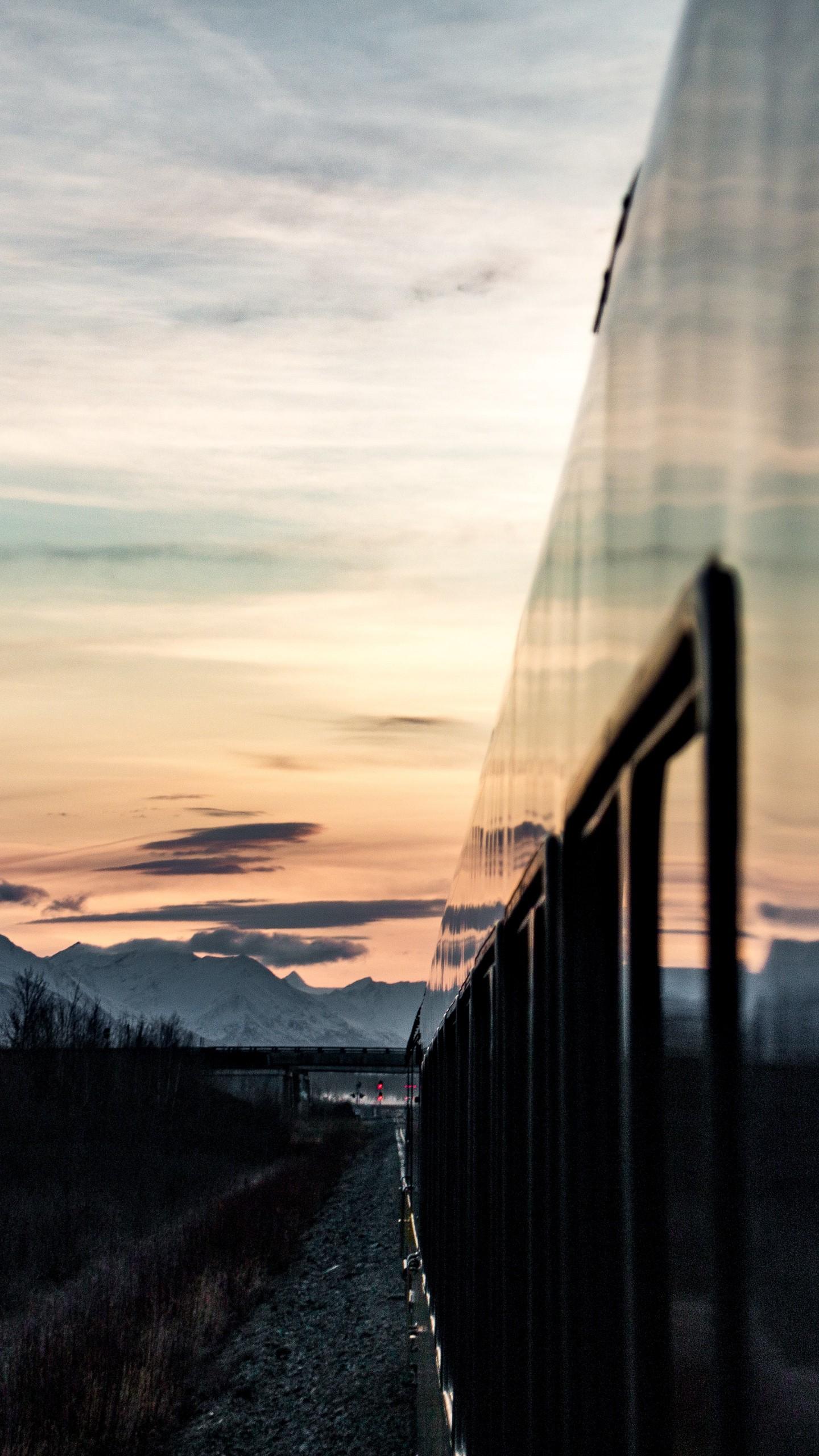 Обои поезд, небо, Пейзаж. Разное foto 19